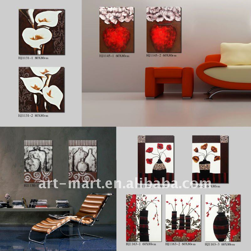 Leather Painting, Leather Craft, Leather Wall Art, 3pcs/set