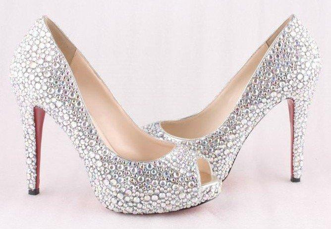 High Heels Wedding Shoes Diamonds