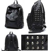 Western Punk Skull PU Leather Women Backpack Shoulders Book School Bag Men Women[04070139]
