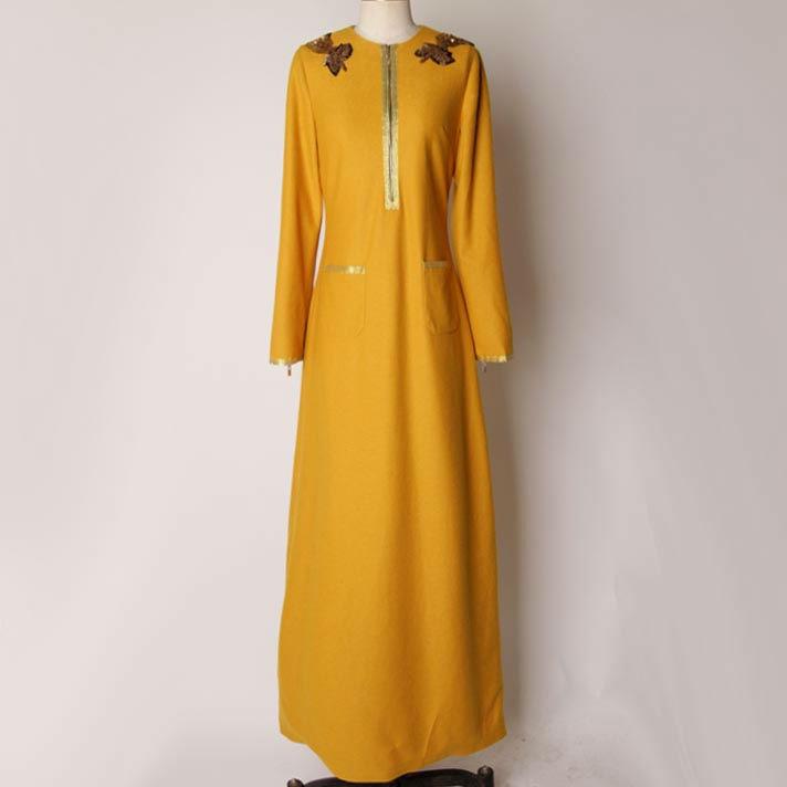 2013 New arrival model dubai style high tweed quality abaya