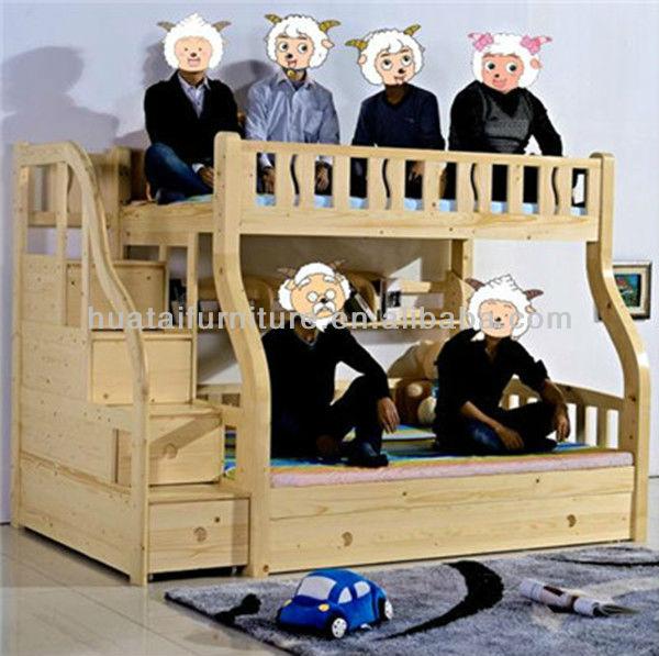 이들 침실 세트 가구 견고한 목재 이층 침대 어린이 이층 침대 ...