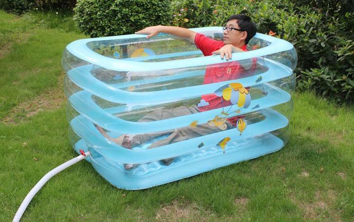 Enfants en plastique rectangulaire piscine baignoire for Piscine en plastique