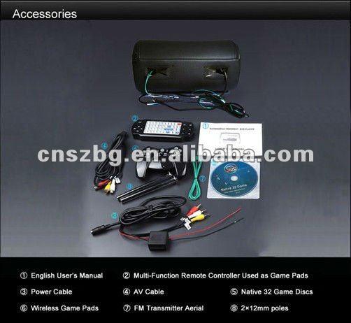 Headrest Car DVD with zipper cover