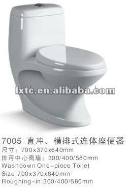 P- 트랩 및 S- 트랩 세라믹 washdown 한 조각 화장실