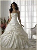 Stock Ivory&white  Wedding Brides Dress size 6 8 10 12 14 16
