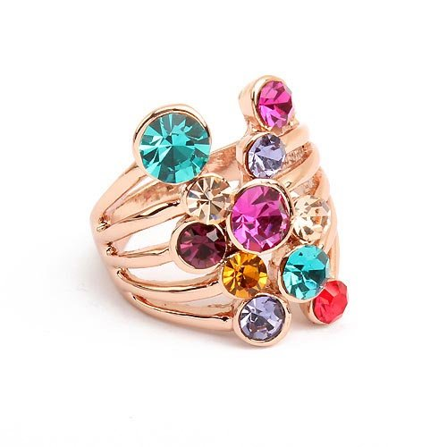 Free Shipping,Wholesales~2012 New Arrival European And American Fashion Neon Ring,Pretty Finger Ring(Multicolor)~89543