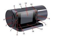 "Автомобильный видеорегистратор Night vision Car dvr wide-angle view DVR with 2.0"" TFT LCD Screen"