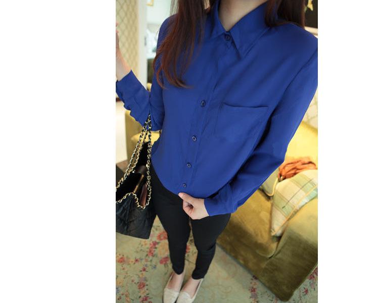 Блузка Синяя Цветами