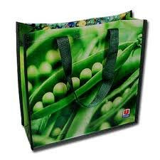 Reusable pp woven foldable shopping bag made in Vietnam export worldwide