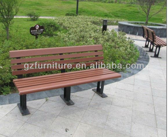 banco de jardim metal:WPC banco de jardim de plástico reciclado-Cadeiras de metal-ID do