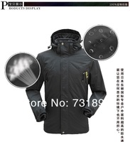 Мужская ветровка Winter New Top Outdoor Waterproof Fashion 2 in1 Two-piece Ski Suit Men's Sports Coat Charge Clothes Jacket