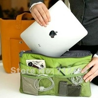 Косметичка Fashion Ladies Green Nylon Ipad Insert Slim Bag In Bag Organizer Pouch Purse