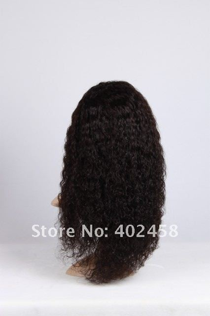 FREE SHIPPING Good quality  Fashion/ in stock 18 inches curly hair 100% Indian  hair human hair   full lace wigs