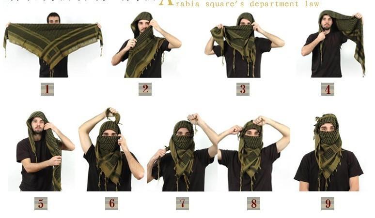 мастер как завязывать арабский шарф лазерного излучения