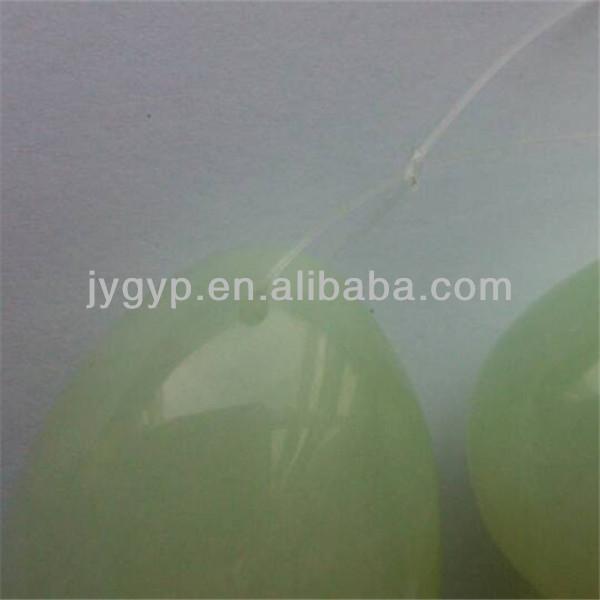 Set/3 drilled nephrite jade eggs for kegel exercise personal massager