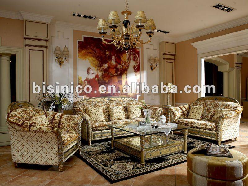 Lujo cl sico de madera muebles de sala set moq 1 - Royal design muebles ...