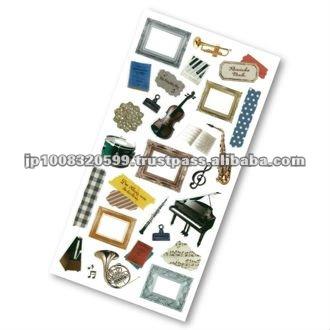 Petit Poche Sticker Musical Instrument _ music stationery _ sticker printing _ stationery item _ handmade _ japanese sticker