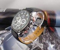 Наручные часы Luxury hot sale Black Leather Watch men man fashion Mechanical watch for Christmas gift MD0018
