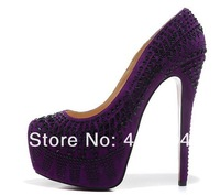 Туфли на высоком каблуке 2013 rhinestone high heel shoes for women 160mm heel red bottom plus size