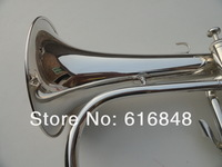 The wholesale-- the BB of Monel valves senior exquisite gift silver plated Flugelhorn so professional