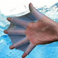 Боксерский ринг alione Silicone Swimming Flippers Swim Gear Hand Finger Webbed Paddle Training Gloves
