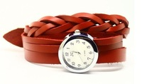 Наручные часы 2012 New style. Cow Leather fashion Summer hot sell Personality bracelet watch.TOP quality