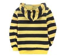 Блейзер для мальчиков Big boy clothing patch hoodie striped yellow and black T-shirt Hooded C1161 aaa062