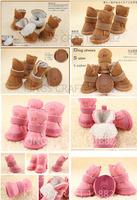 Free Shipping- Warm Pet Snow Boots, Soft Cotton Boot , Cozy Pet Dog Shoes  Puppy Shoes Wholesale