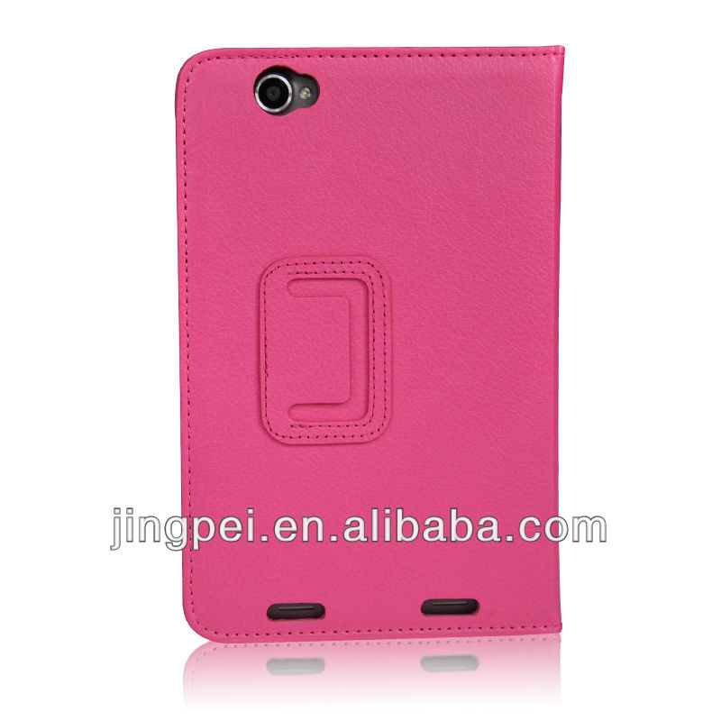 Hotpink Folio Leather Cover Case for Lenovo A5000 7 inch tablet