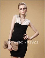 Holiday Sale Free shipping New Arrival Women's Fashion V-neck sleeveless Dress Y3301