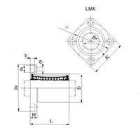 LMK06UU Flange Type Linear Bearing LMK6UU CNC