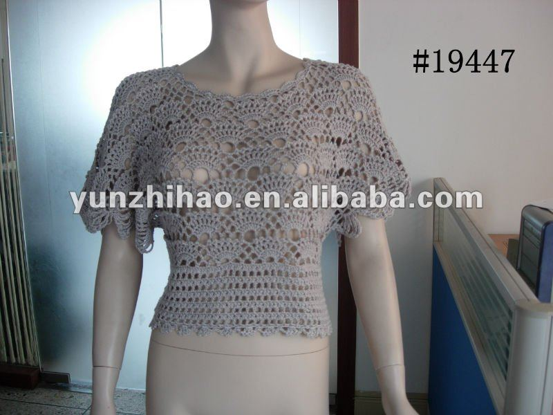 2014 fashion ladies long crochet sweater vest