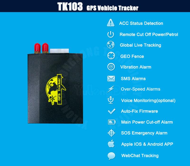 TK103 vehicle GPS tracker truck GPS tracker gps tracker motorcycle