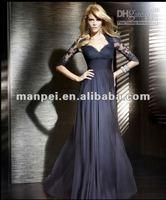 Вечернее платье Custom Made Sweetheart Neckline Dark Purple Long Sleeve Arabic Evening Gowns Dresses