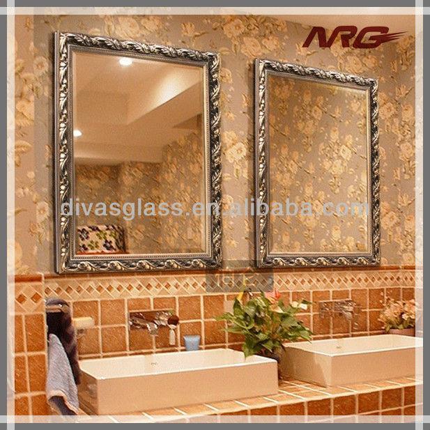 bao del hotel la decoracin borde biselado espejos marcos with marcos de espejos para baos
