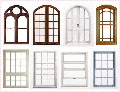 Solid wood window grill design in windows from home for Window design colour