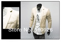 2012 Free shipping Basic Slim small suit coat four/color solid color Slim leisure suit fashion suits 4 color 4 size