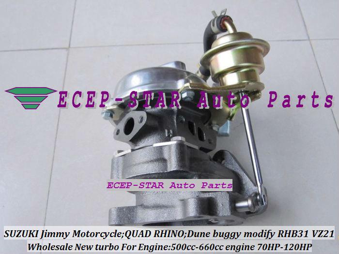 RHB31 VZ21 Turbocharger For SUZUKI Jimmy 500cc-660cc engine MOTORCYCLE QUAD RHINO Dune buggy modify 70HP-120HP (1)