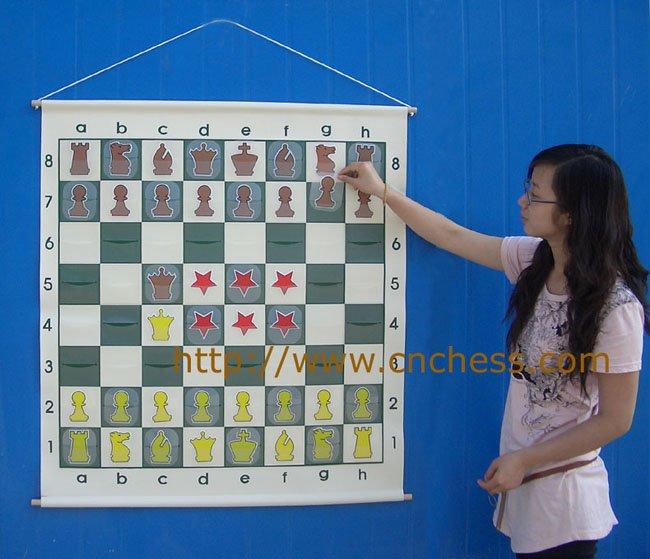 Chess Demo Board 36 Roll Up Vinyl Buy Chess Demo
