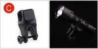 Запчасти для велосипедов Black Cycling Bike Bicycle Front light Clip Flashlight Holder Torch Bracket