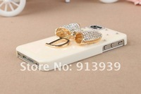 MODEST LUXURY Bling Cellphone Cover For Iphone4/4s  ,3D Rhinestone Mobilephone Case For Iphone  ,Phone Accessory,Free Shipping