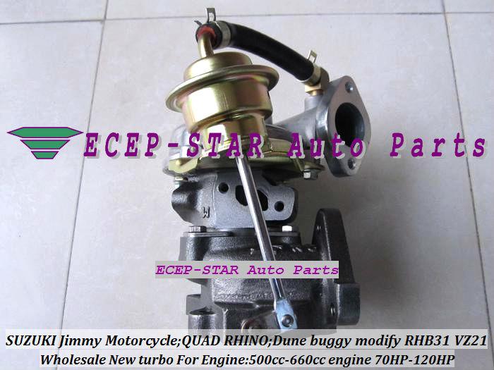 RHB31 VZ21 Turbocharger For SUZUKI Jimmy 500cc-660cc engine MOTORCYCLE QUAD RHINO Dune buggy modify 70HP-120HP (2)