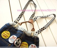 (10pcs/lot)Free shipping fashion kids' Suspenders,4 clips candy color children's Suspenders hot sale