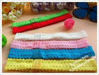 Детский аксессуар для волос 60pcs 12 Color Baby Headbands Girl's Hair Ornaments Elastic Hair Headband Children's Hair Elastics