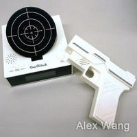 Настольные часы New Gun O'clock, alarm clock with laser target 1piece, with Retail Packaging