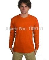 Мужской пуловер prirglc wool knitwear men round neck sweaters in blue 20097bl