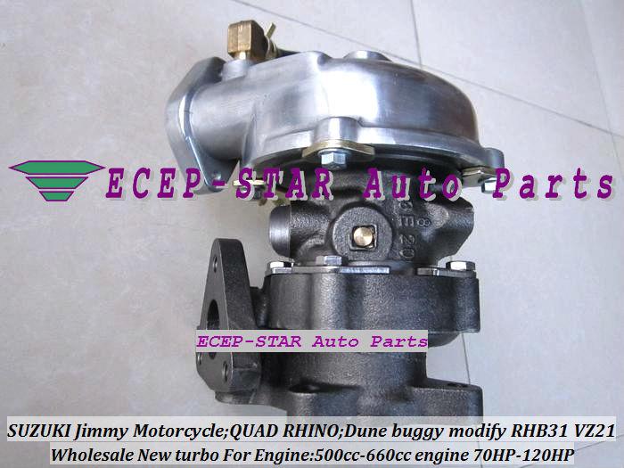 RHB31 VZ21 Turbocharger For SUZUKI Jimmy 500cc-660cc engine MOTORCYCLE QUAD RHINO Dune buggy modify 70HP-120HP (4)