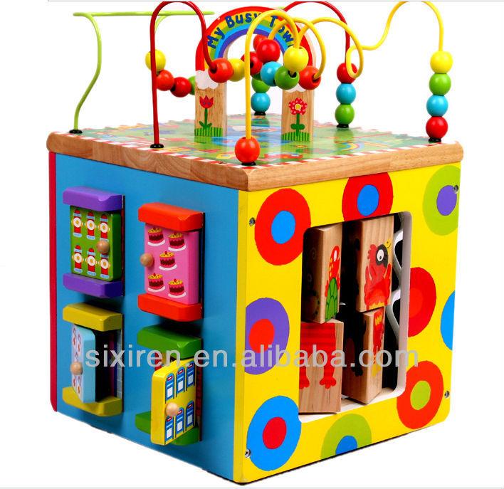 Portuguese Learning Toys : Crianças de moda seis lados caixa brinquedos