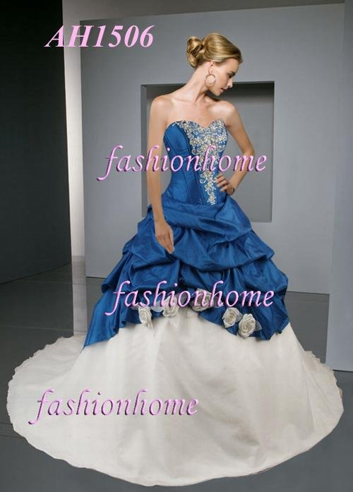 New arrival Blue and white wedding dress prom dress AH1506 products