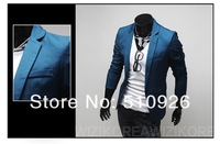 2012 Free shipping Basic Slim small suit coat four-color solid color Slim leisure suit fashion suits 4 color 4 size